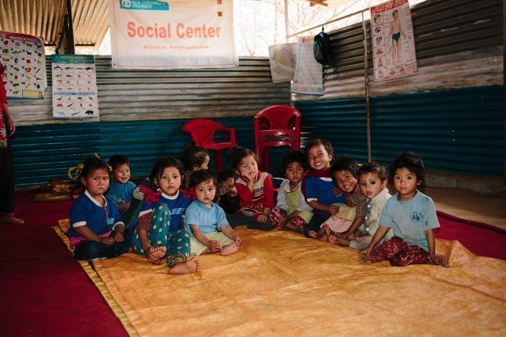Kindergartenkinder in Nepal.