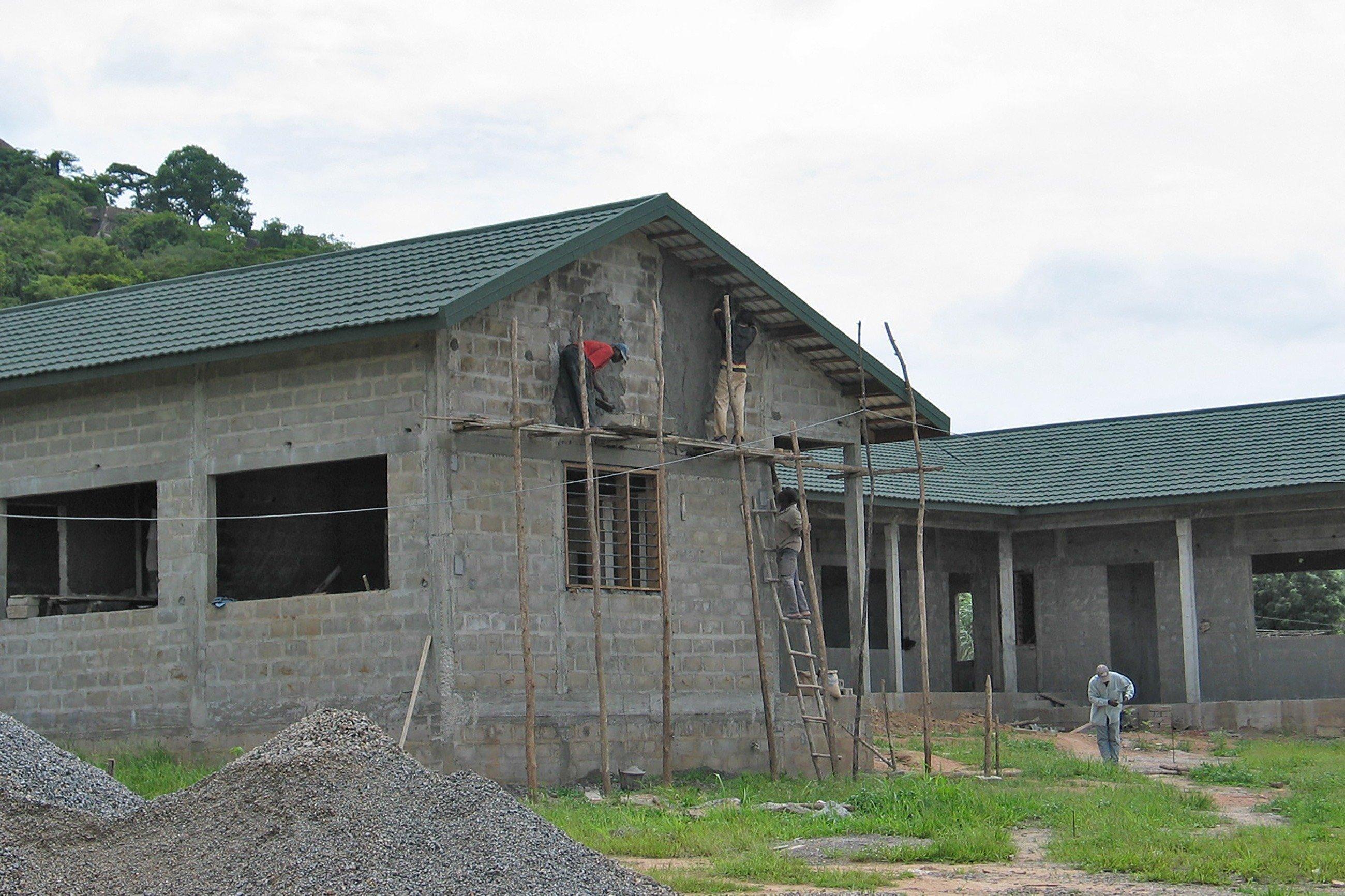 Im Bau befindliche Häuser.