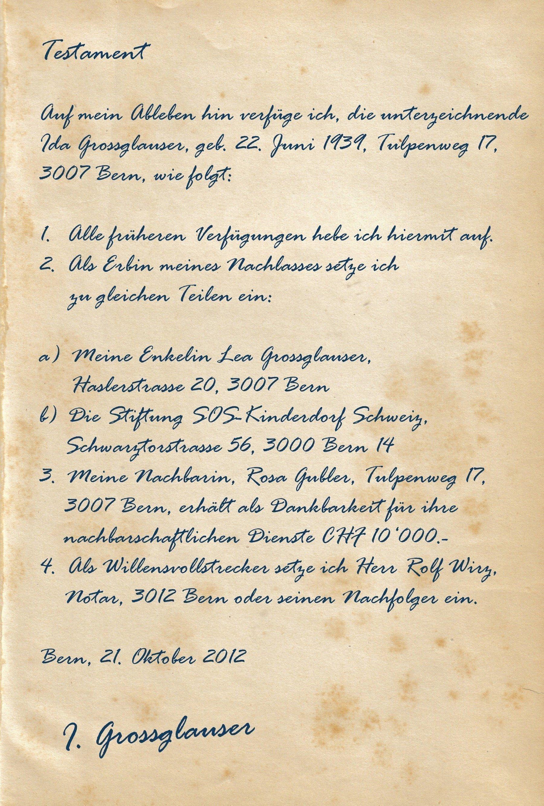 Handschriftlich