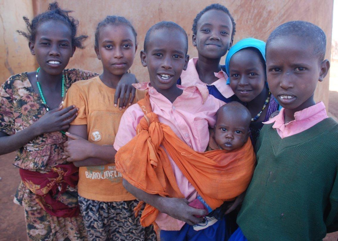 Afrikanische Familie mit Baby.