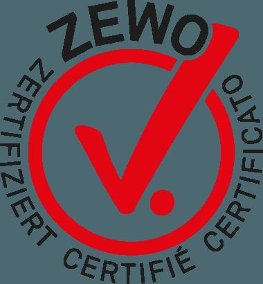 Logo Zewo zertifiziert