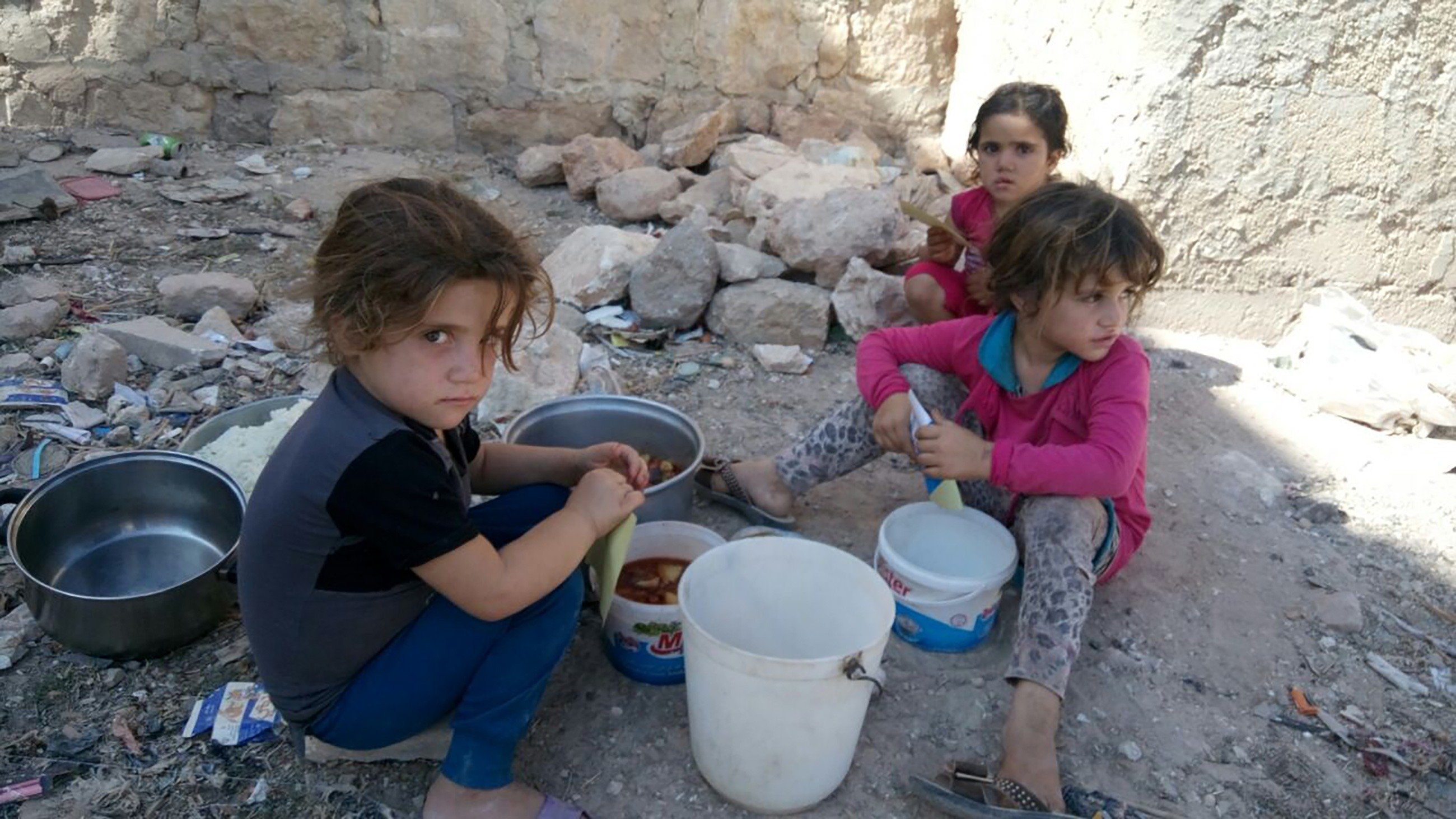Traumatisierte Kinder in Syrien