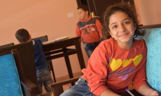 Mädchen in neuem SOS-Kinderdorf in Damaskus