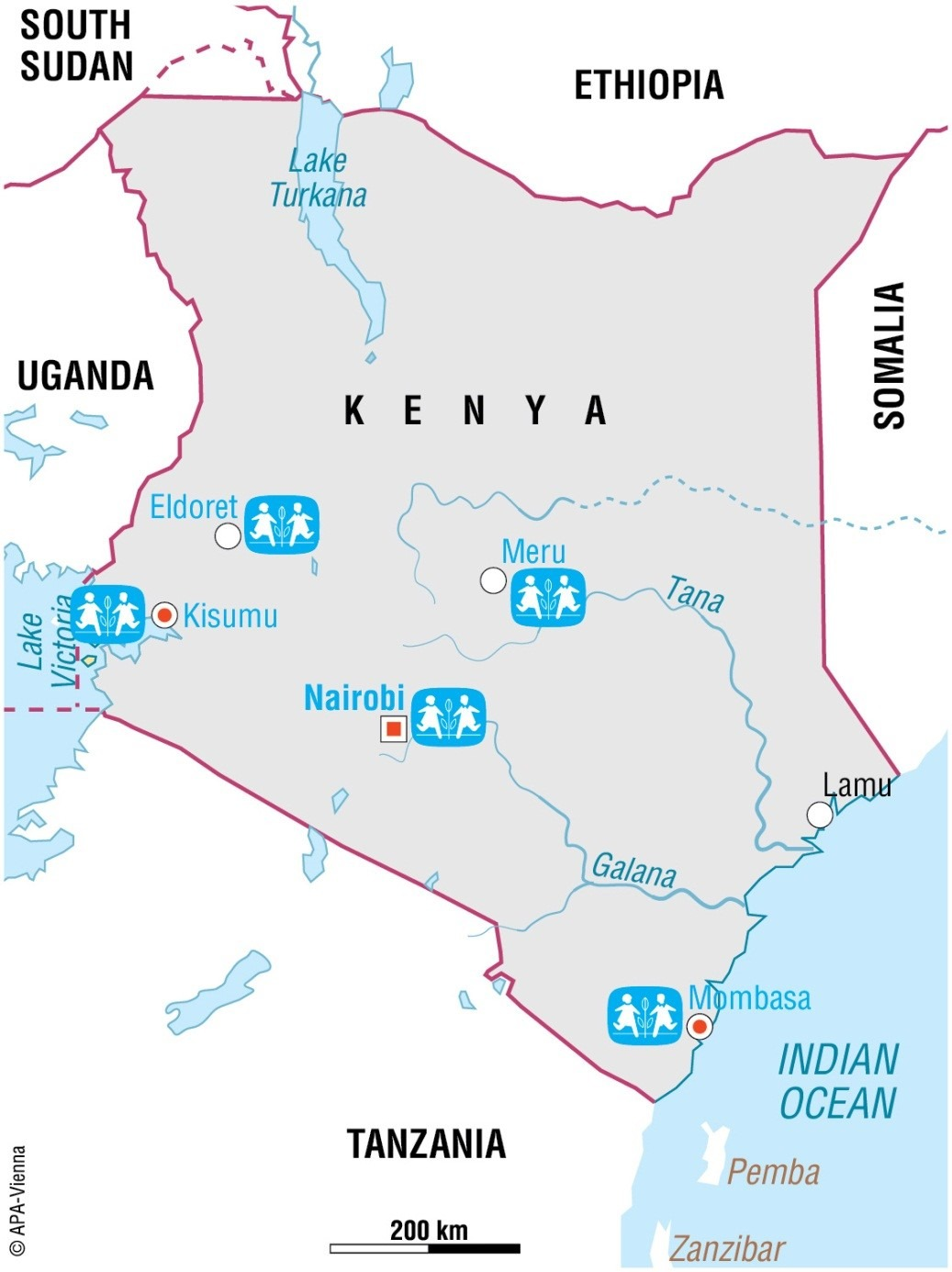 Karte von Kenia