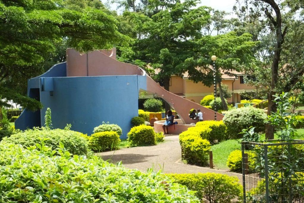 Das Aussengelände des SOS-Kinderdorfs in Nairobi.