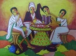 Un'illustrazione del «gursha» in Etiopia.