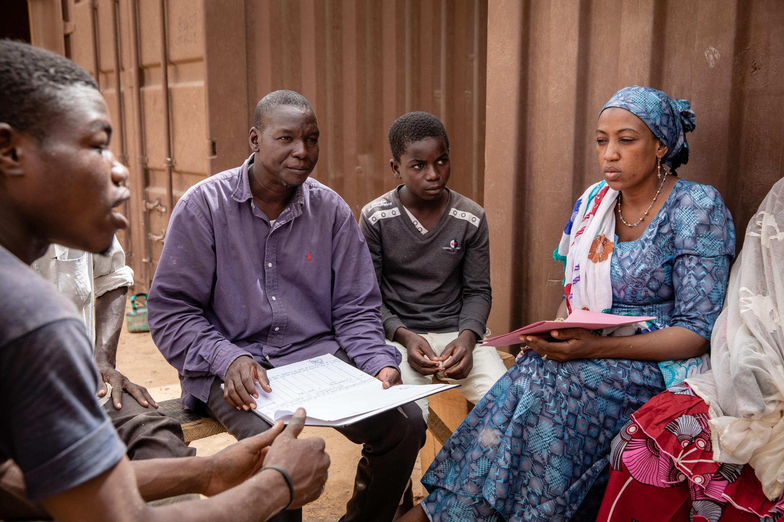 In Niger, i comitati per la protezione dell'infanzia fungono da punti di contatto.
